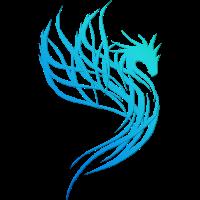 Blauer Wasser-Drache