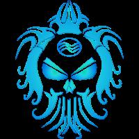Blauer Wasser-Schädel