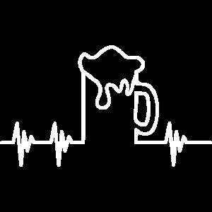 Bier Herzschlag Weiß