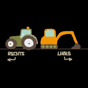 Bagger und Traktor zum Geburtstag für Jungen