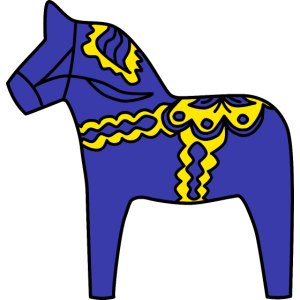 Dalahäst Pferd Holzpferd Schweden Geschenkidee