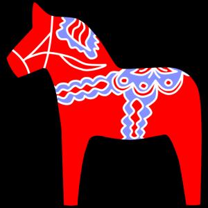 Dalarna Pferd - Dalahäst | Holzpferd Schwedisch