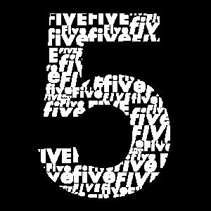 Fünf Rückennummer Lieblingszahl Geburtstag