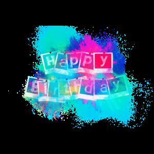 Geburtstag Tafel Schriftart farbenfroh