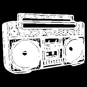 Boombox (weiß)