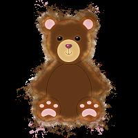 Teddy Stofftiere hell glühend