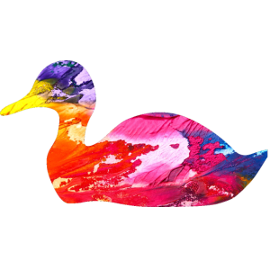 Kühles Enten-abstraktes Kunst-Malerei-Enten-Liebhaber-T-Shirt