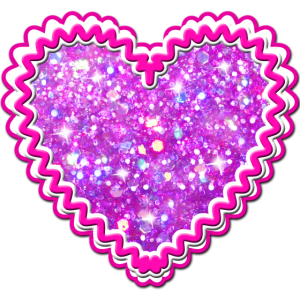 40 Lebkuchenherz Pink Glitzer Glamour Herz