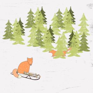Tierfreunde im Winterwald - Der kleine Fuchs