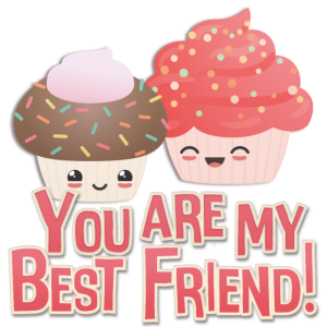 you are my best friend cupcakes beste Freunde
