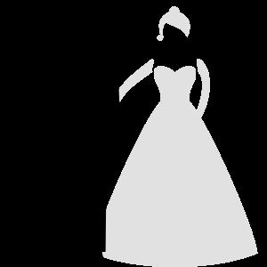 Brautpaar Bräutigam mit Fußfessel bei Hochzeit SW