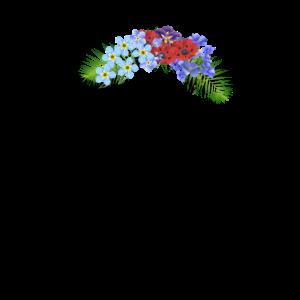 Hippie Kuh Blumen