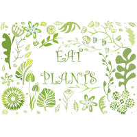 EAT PLANTS DESIGN FOR VEGAN LIFSTYLE