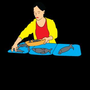 Fisch Stand Markt