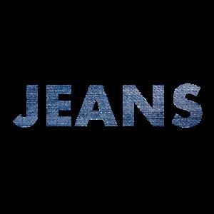 Jeans Stoff Textur Schriftzug