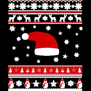 Weihnachten und Weihnachtsmütze