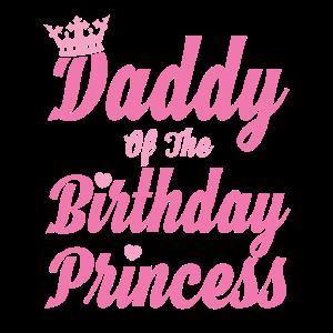 Papa Vati Daddy vom Geburtstagskind Prinzessin