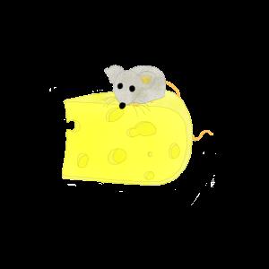 Maus auf Käse / Mouse on Cheese