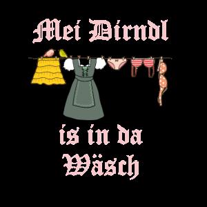 Dirndl Wäsche Waschmaschine Oktoberfest T-Shirt