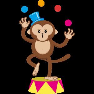 Zirkus Affe Jongleur Äffchen Affen Affenzirkus