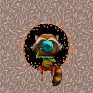 Herbstliche Waldbewohner - der Waschbär