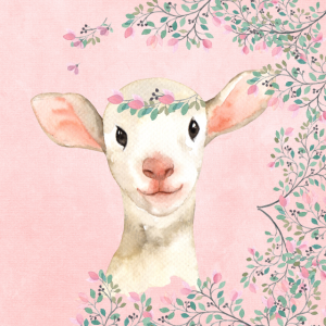 Wald Freunde im Rosa Blütenwald - Das Lamm