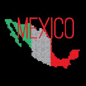 Mexico Land Design mit Nationalfarben