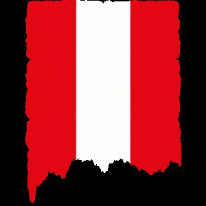 Österreich Flagge Vintage