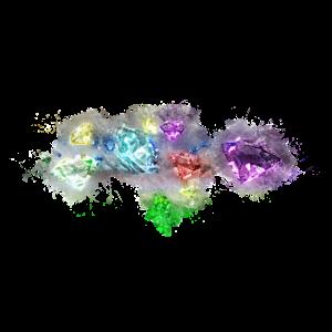Diamanten Schmuck hell glühend