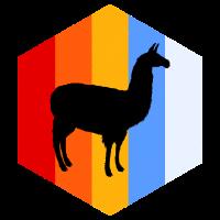 Lama Sechseck Geometrie Farbenfroh Tier Südamerika