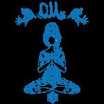 Hippie Yogagirl Blau 2 OM Frieden