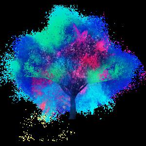 Kirschblütenbaum farbenfroh