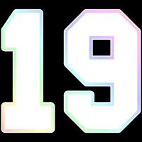 Nummer 19 Regenbogen Ombre