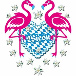 56 Lebkuchenherz Flamingos Wiesn Edelweiss