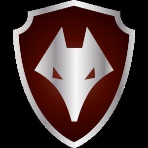 rotes Wappen mit Fuchs