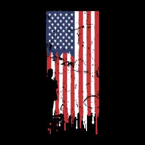 Amerika Flagge Vintage