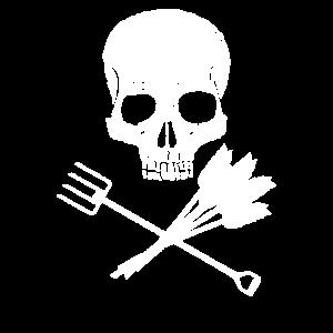 Totenkopf Mistgabel