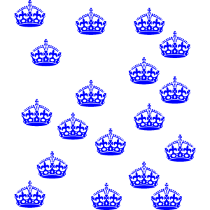 Blaue Kronen