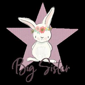 Motiv für die große Schwester mit kleinem Hasen