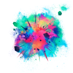 Explosion Detonation farbenfroh