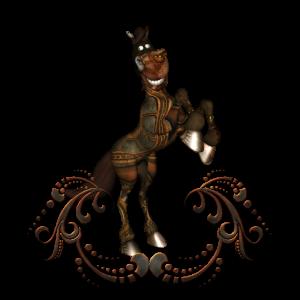 Nettes Steampunk-Pferd
