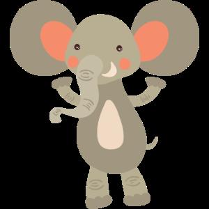 Elefant Comic Tier