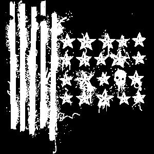 Skulls & Stripes - Totenkopf USA Flaggen Murica