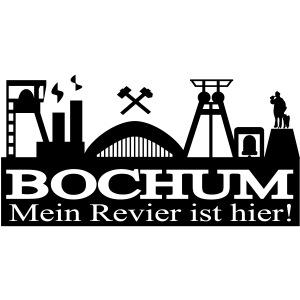 Bochumer Skyline mit Hammer und Eisen - Mein