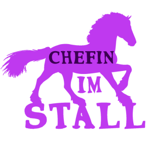 Pferd Chefin im Stall