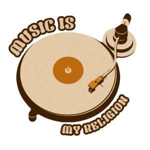 Musik Religion DJ Schallplattenspieler Geschenk