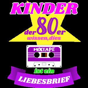 Mixtape Liebesbrief Kinder der 80er Geschenk