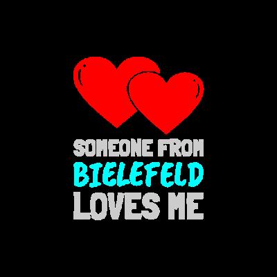 Someone from Bielefeld - Wer hat seine Liebe in Bielefeld gefunden? Hier gibt es die passenden Klamotten dazu.... - i heart,verliebt,neue Liebe,he loves me,Love,herz,grosse Liebe,Verliebte,Bielefeld,I love,Liebe,she loves me,er liebt mich,frisch verliebt,sie liebt mich