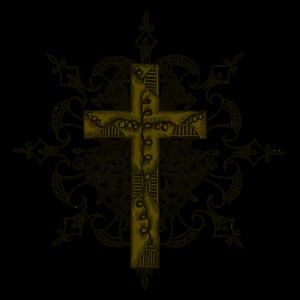Cooles Heiliges Kreuz mit Verzierungen I Kirche