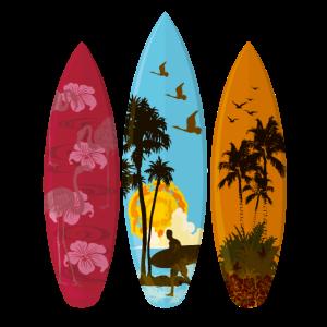 Surfbretter am Mittag